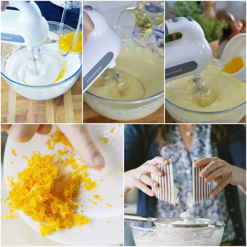 Ciambella all'arancia senza glutine e latticini