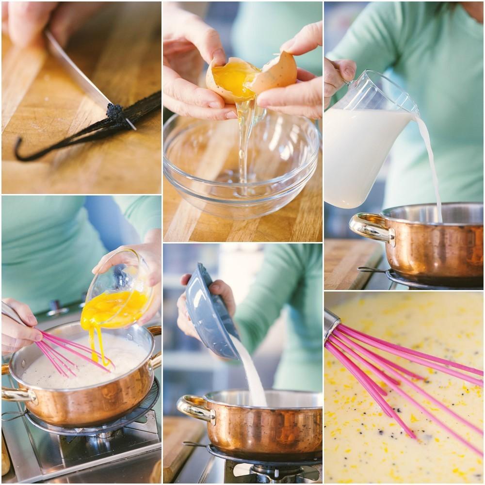 Preparazione torta della nonna