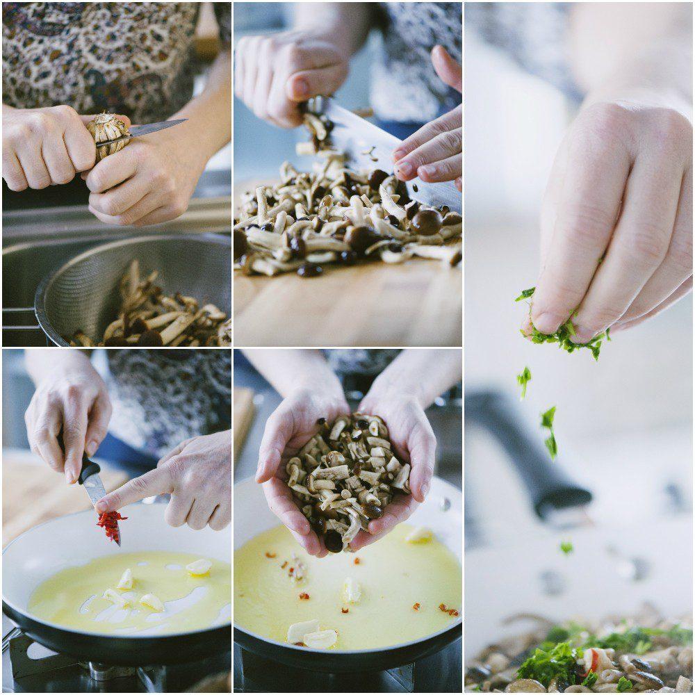 Ciambella vegetariana di patate e funghi
