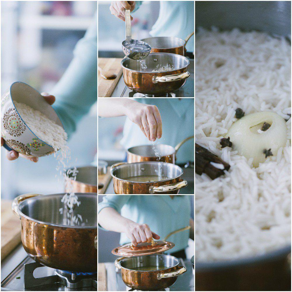 Curry di verdure con riso pilaf