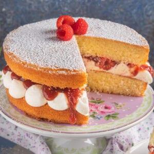 torta victoria sponge cake