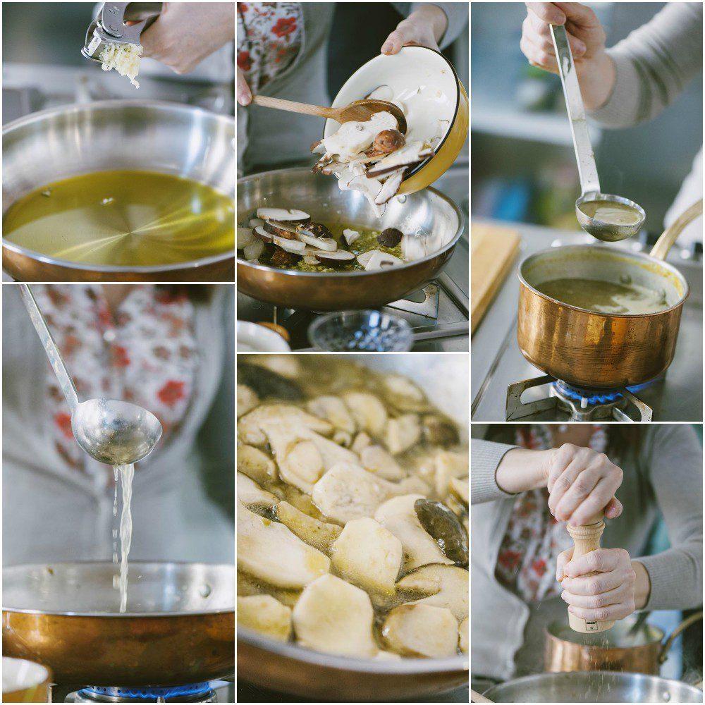 risotto salsiccia e funghi porcini