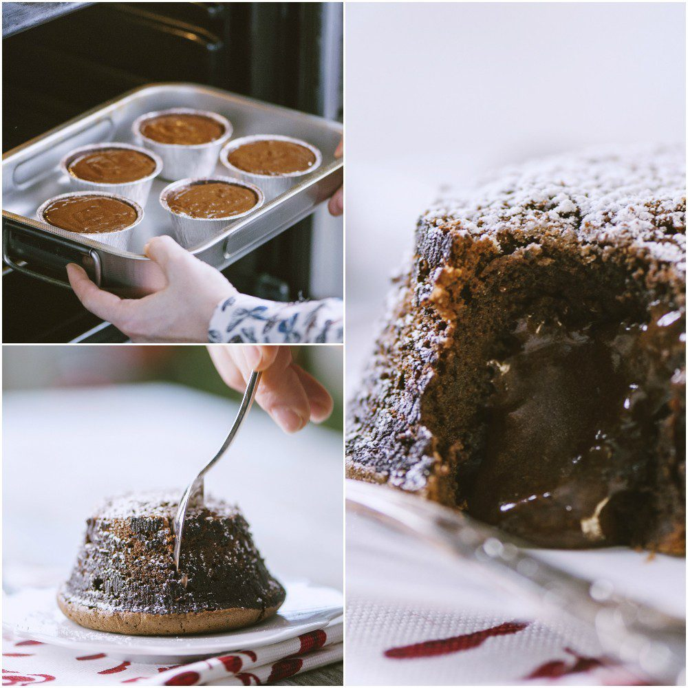 Tortino al cioccolato con cuore fondente senza glutine