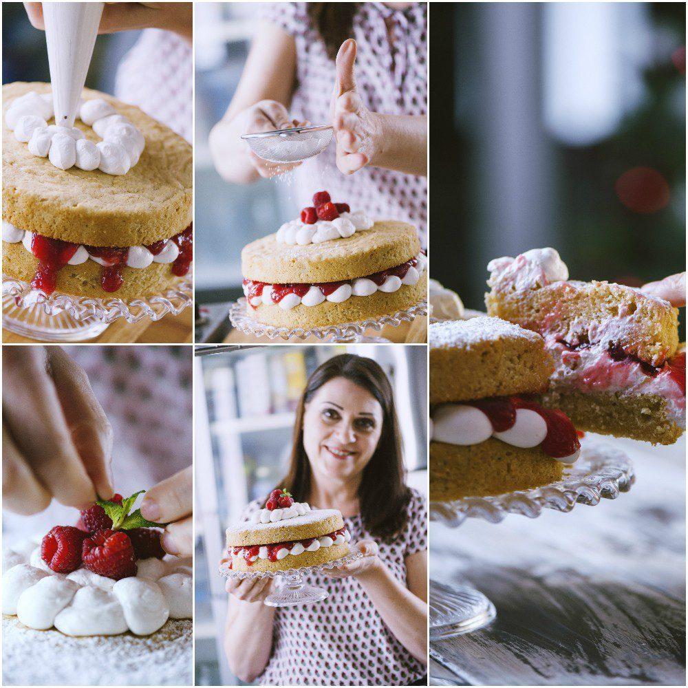 Victoria cake vegana