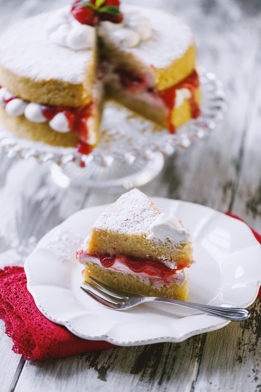 Victoria cake vegana e senza glutine