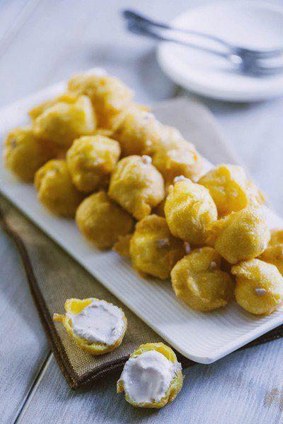 Tortelli salati al formaggio ripieni pronti nel piatto!