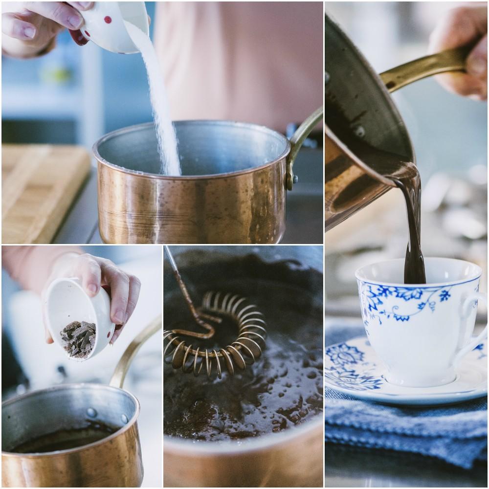 cioccolata calda in tazza senza glutine e latticini