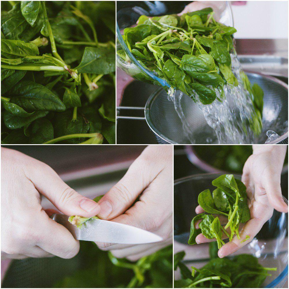 Come pulire gli spinaci freschi