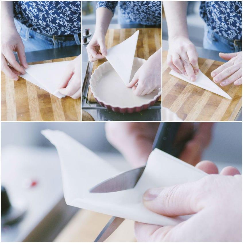 Come foderare una tortiera con carta forno