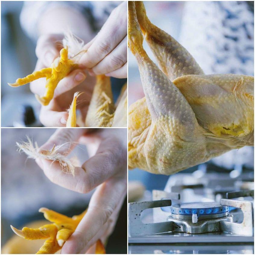 Come pulire il pollo intero