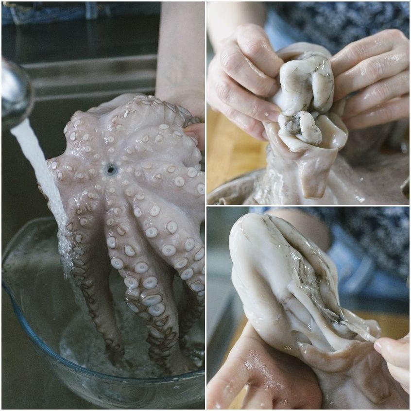 Come pulire il polpo