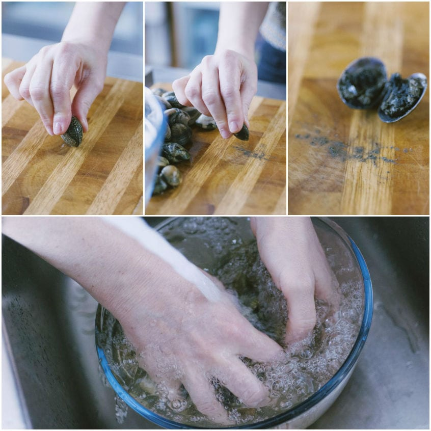 Come pulire le vongole