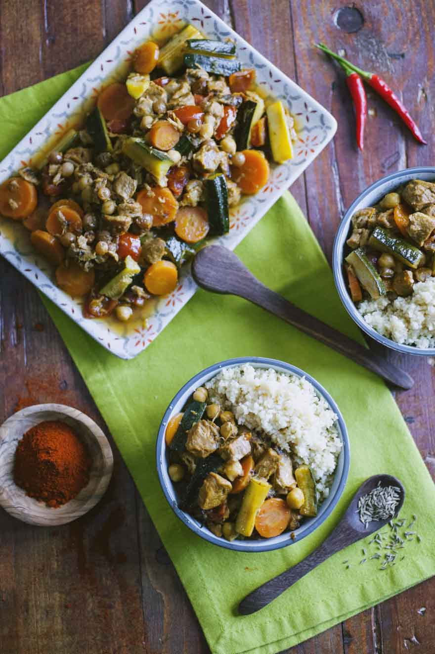 Couscous alla marocchina, servito appena pronto
