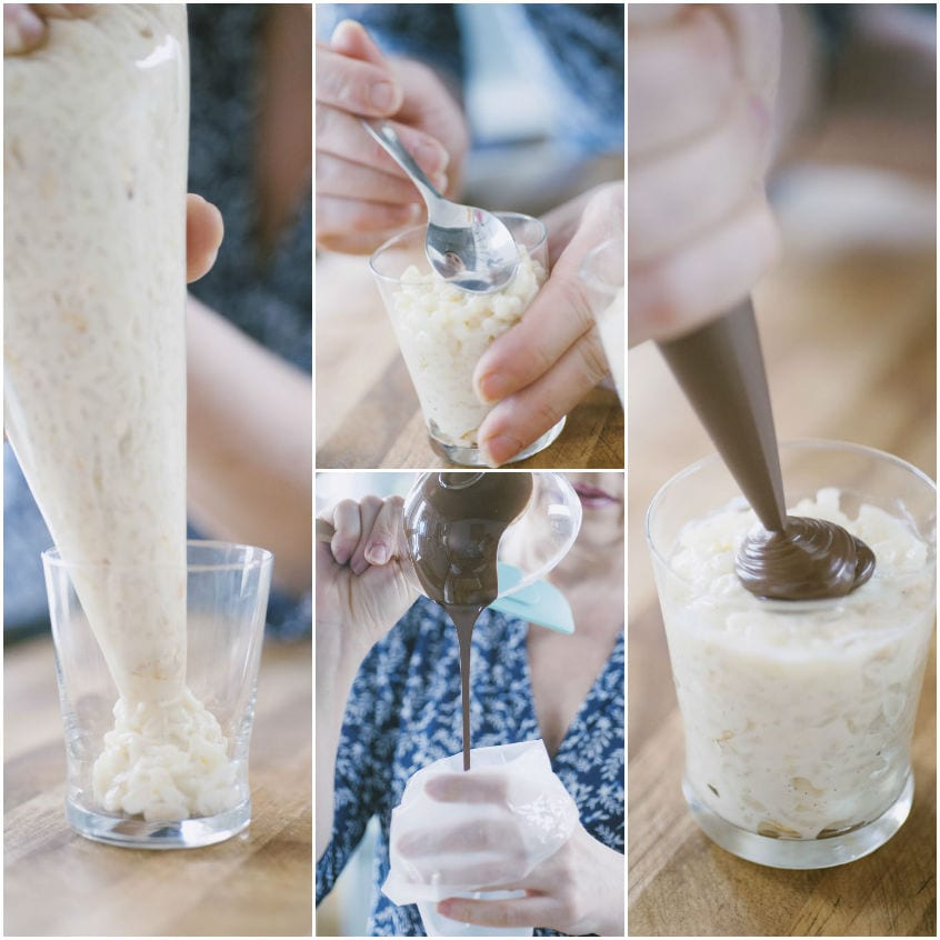 Bicchierini di riso al latte