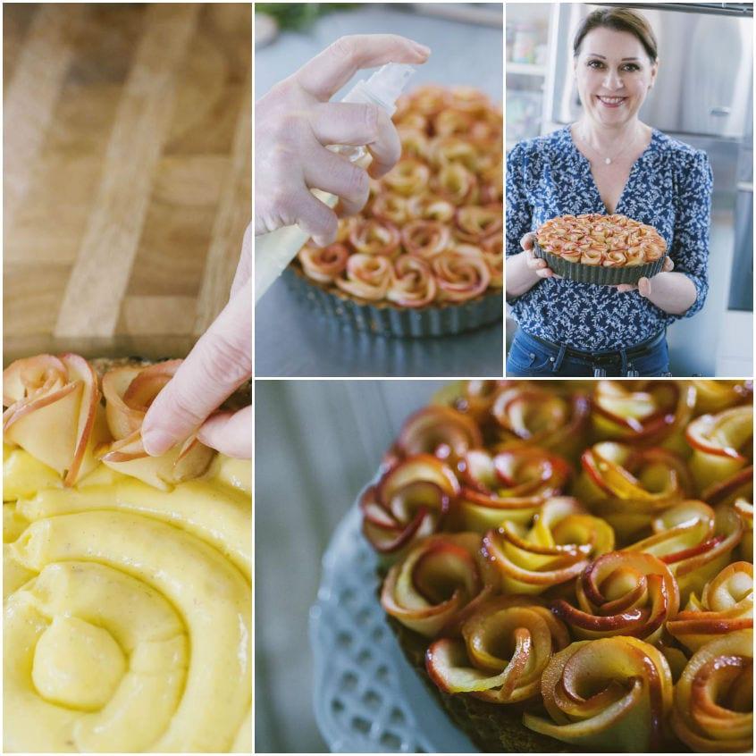 Crostata di roselline di mele