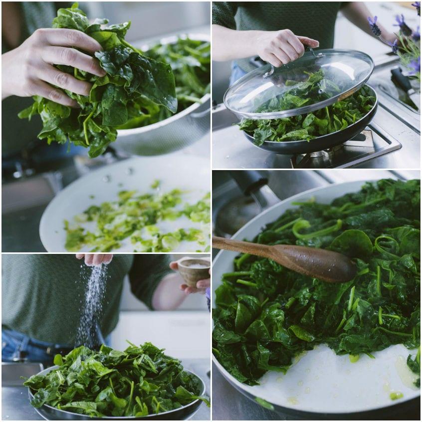 Frittata di spinaci e ricotta salata