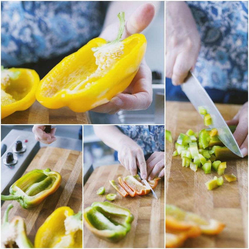 Come tagliare i peperoni
