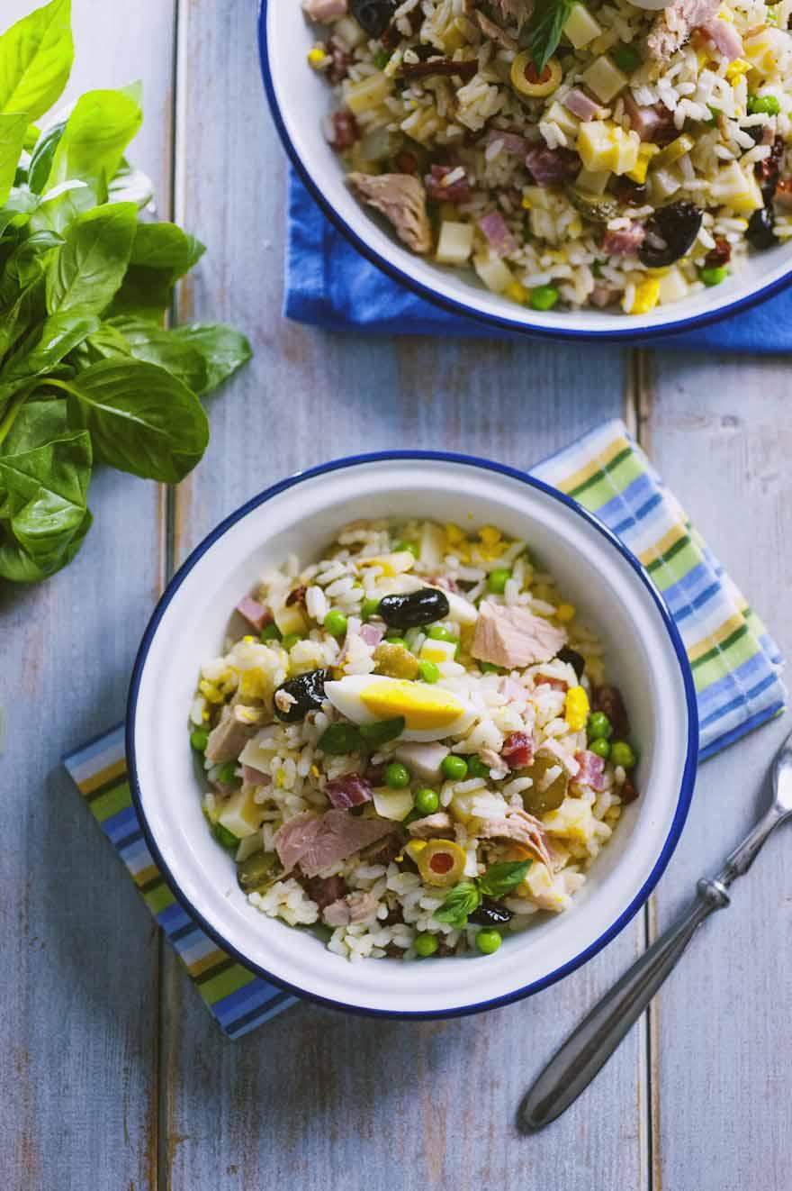 Insalata di riso, servita in abbondanza