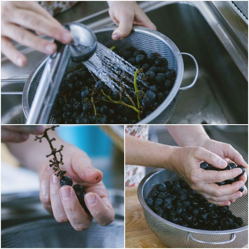 Ciaccia con uva fragola