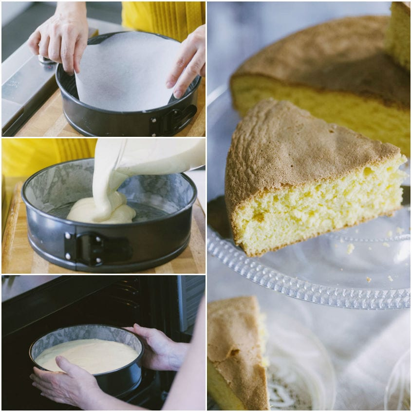 Pan di Spagna senza glutine e latticini