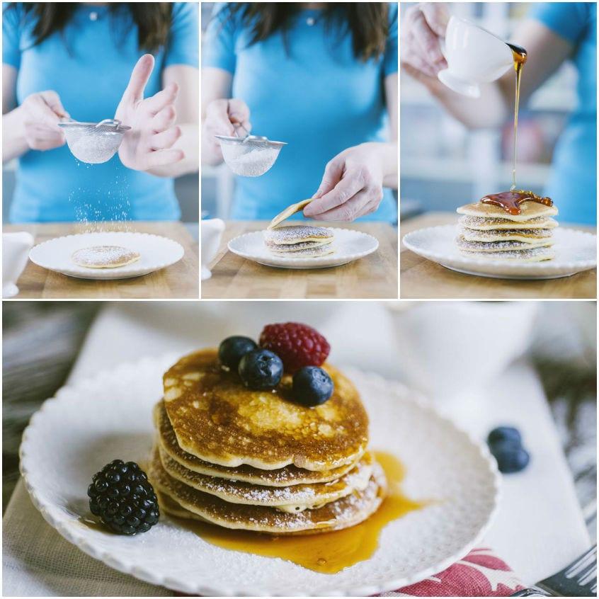 Pancakes senza glutine e latticini