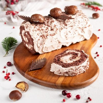 Tronchetto di Natale con crema ai marroni