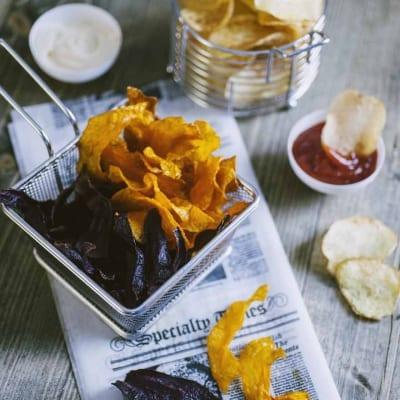 Chips di verdure, fritte e molto croccanti