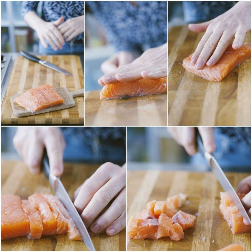 Frittata al forno con salmone e ricotta