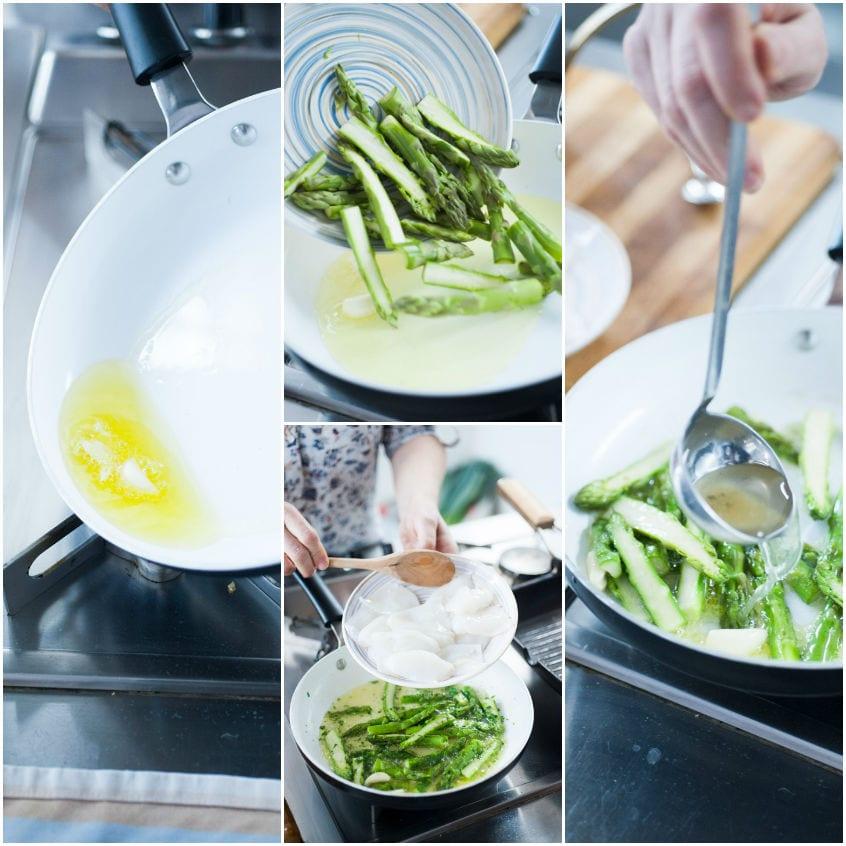Risotto con asparagi e seppioline