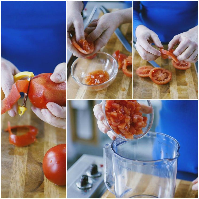 Tacos con stoccafisso e verdure con maionese al pomodoro