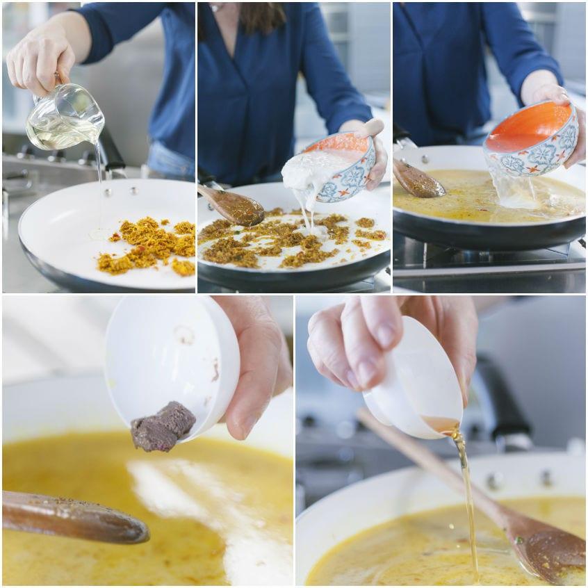 Curry giallo con manzo