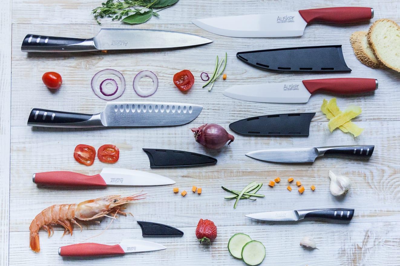 Differenza tra i coltelli in ceramica e in acciaio
