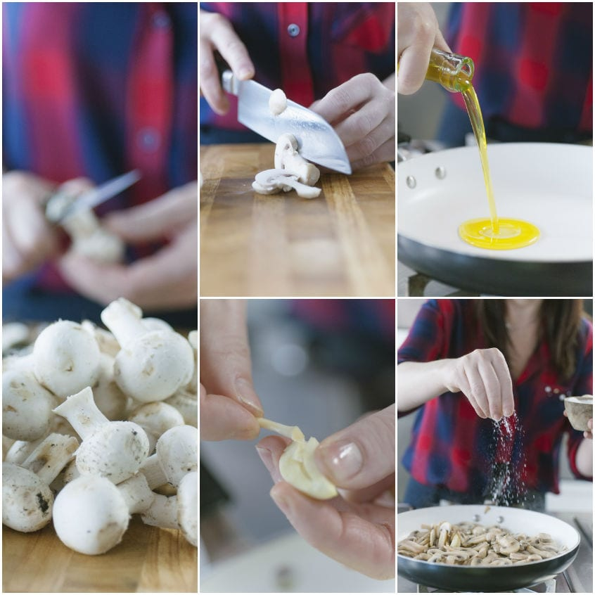 Spatzle con costolette d'agnello e funghi