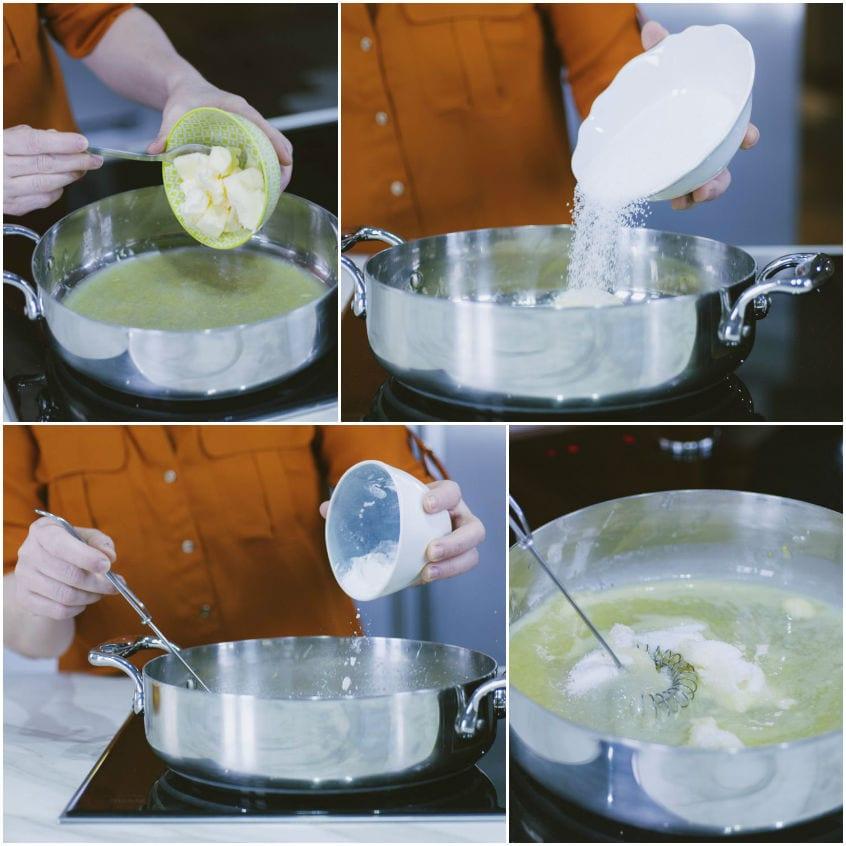 Tarte con lemon curd e fragole