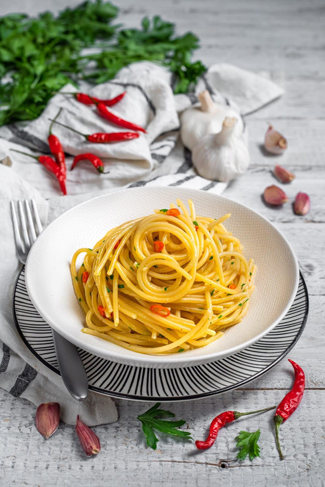 Spaghetti aglio, olio e peperoncino