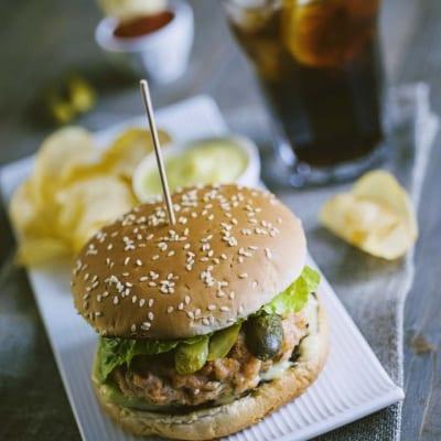 Burger di salmone
