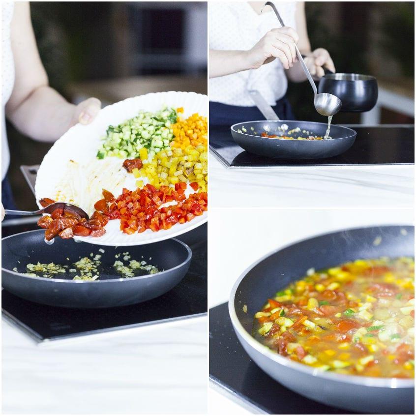 Ravioli senza glutine di ricotta e spinaci in guazzetto di verdure alla cannella
