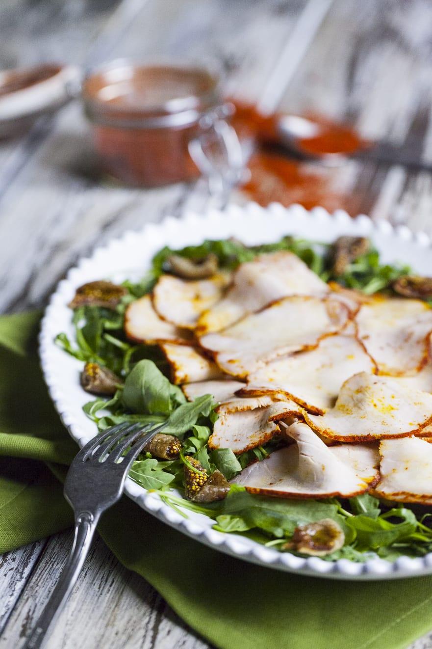 Lonza di maiale ammorbidita dalla salamoia perfetta per insalate