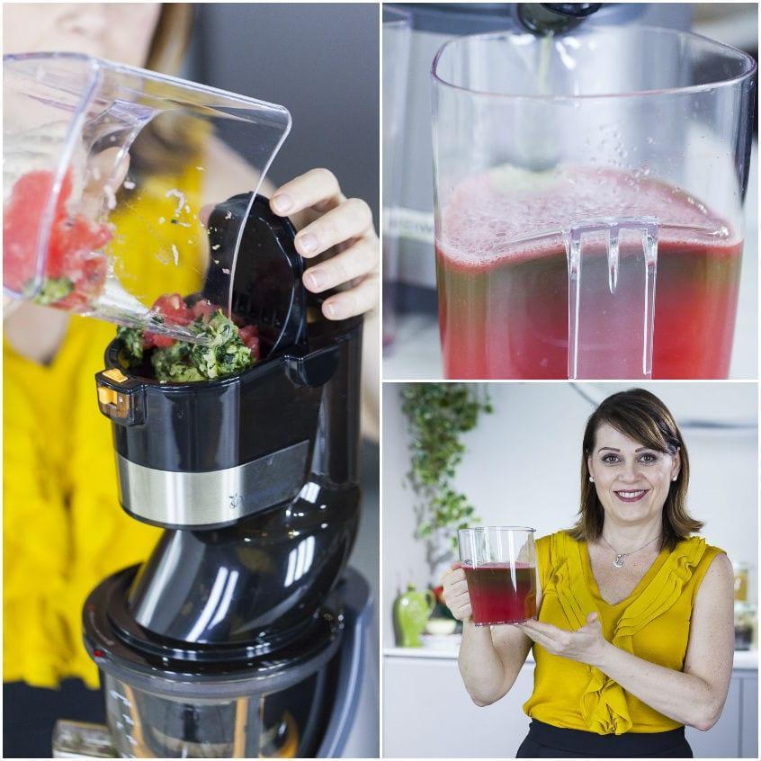 Succo con anguria, cetrioli e rosmarino