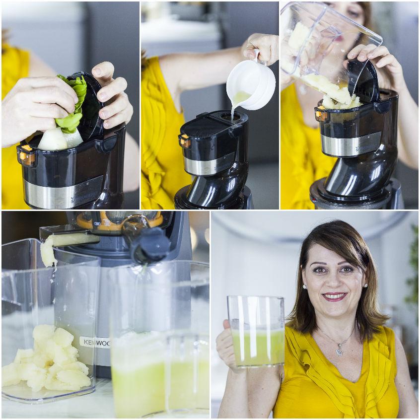 Succo al melone, limone e basilico