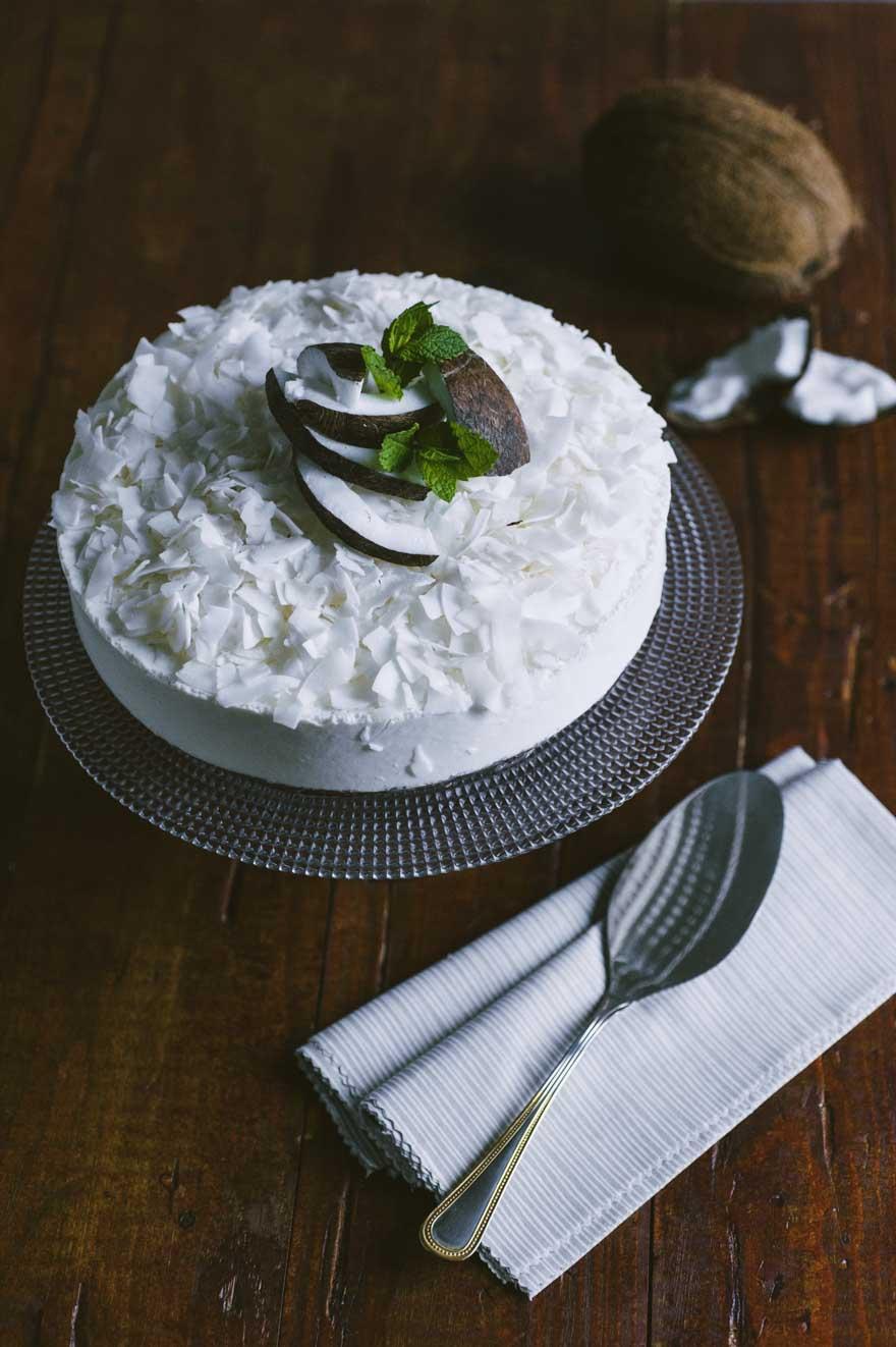 Cheese cake al cocco, con cocco fresco