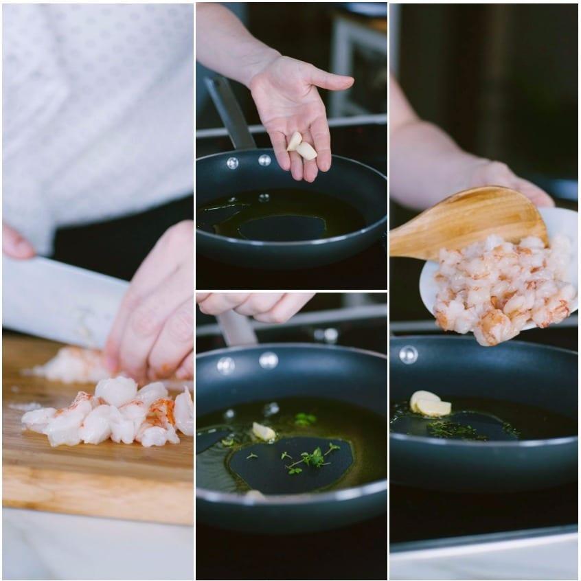 Gnocchetti di barbaboetola con gamberi e salicornia