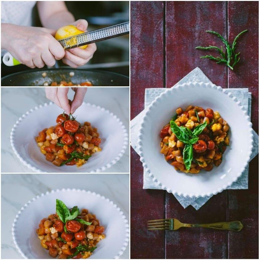 Gnocchetti di barbabietola con gamberi e salicornia