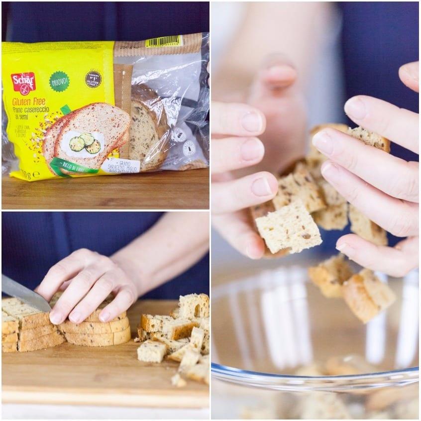 Insalata di pane senza glutine