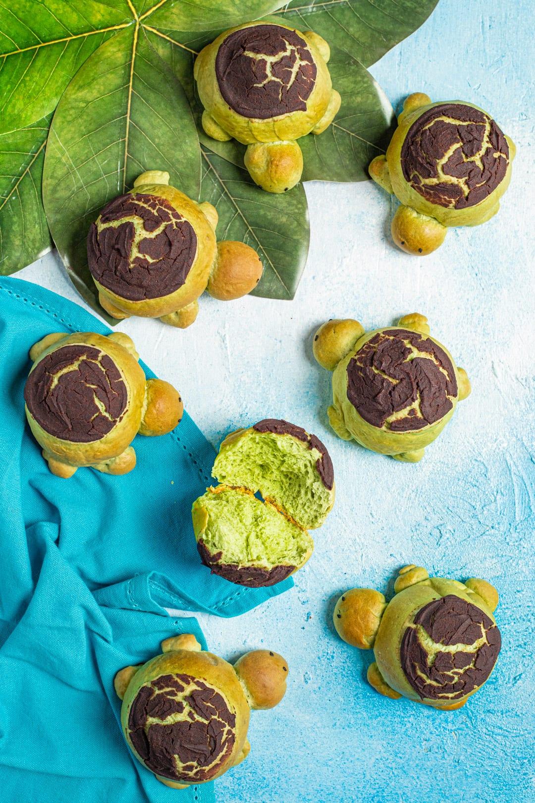 Tartarughine dolci lievitate dolci