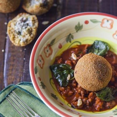 Arancine di couscous con sarde e finocchietto