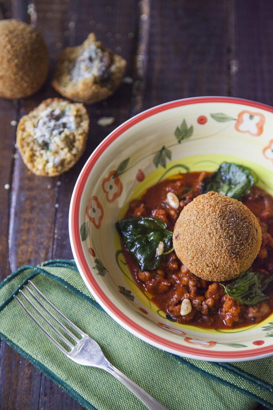 Arancini di couscous con sarde e finocchietto