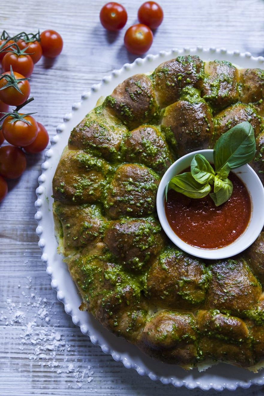 Danubi salato nel piato pronto all'assaggio