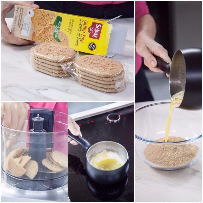 Cheesecake senza glutine alle pere
