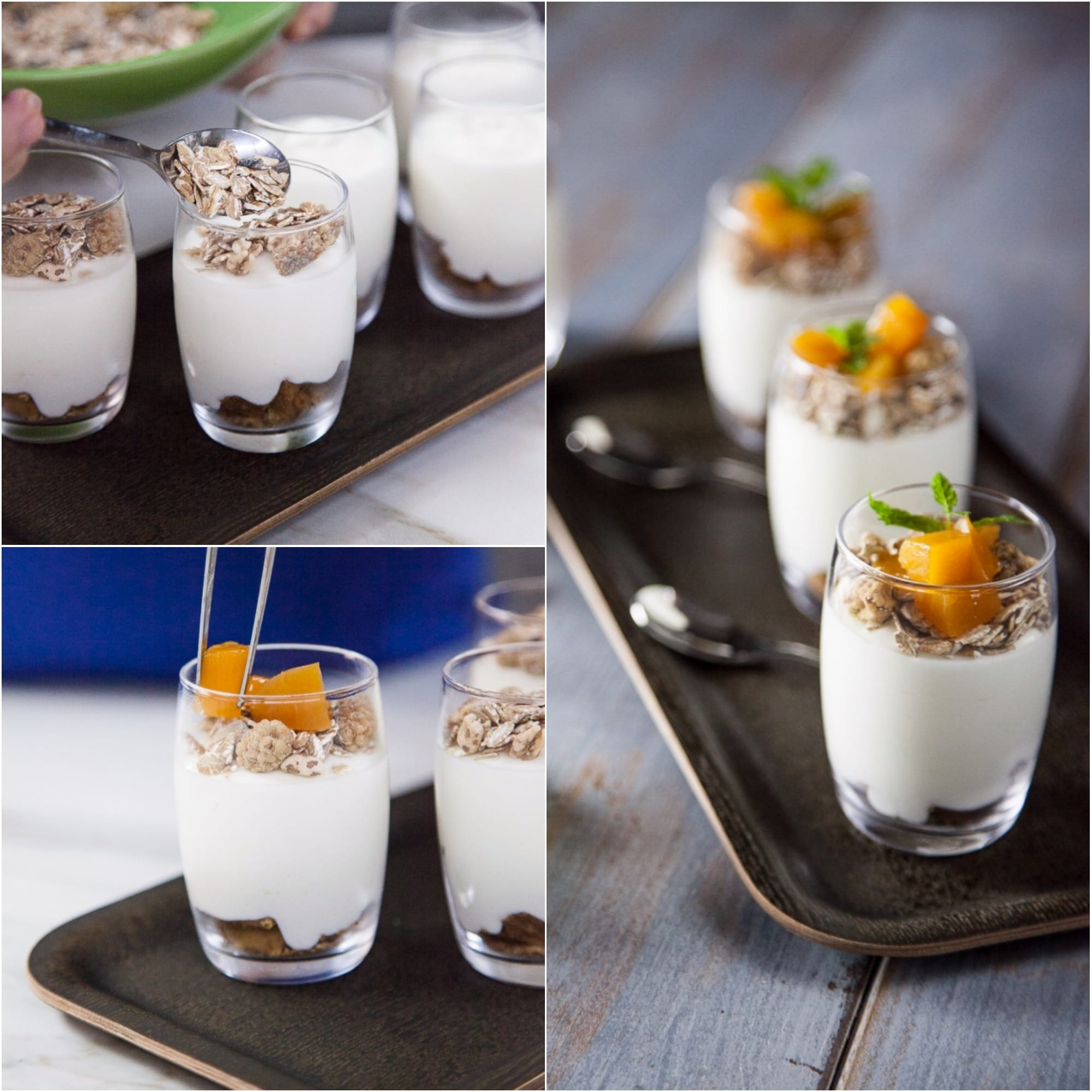Mousse di yogurt con frutta